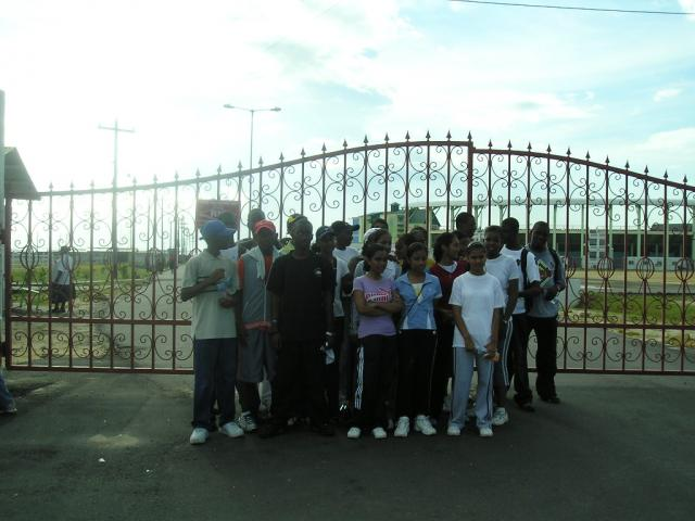 Students at the gate